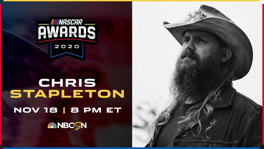 """You better check this out!   We're just a few hours away from @ChrisStapleton opening the #NASCARAwards with the television debut of his song, """"Arkansas."""""""