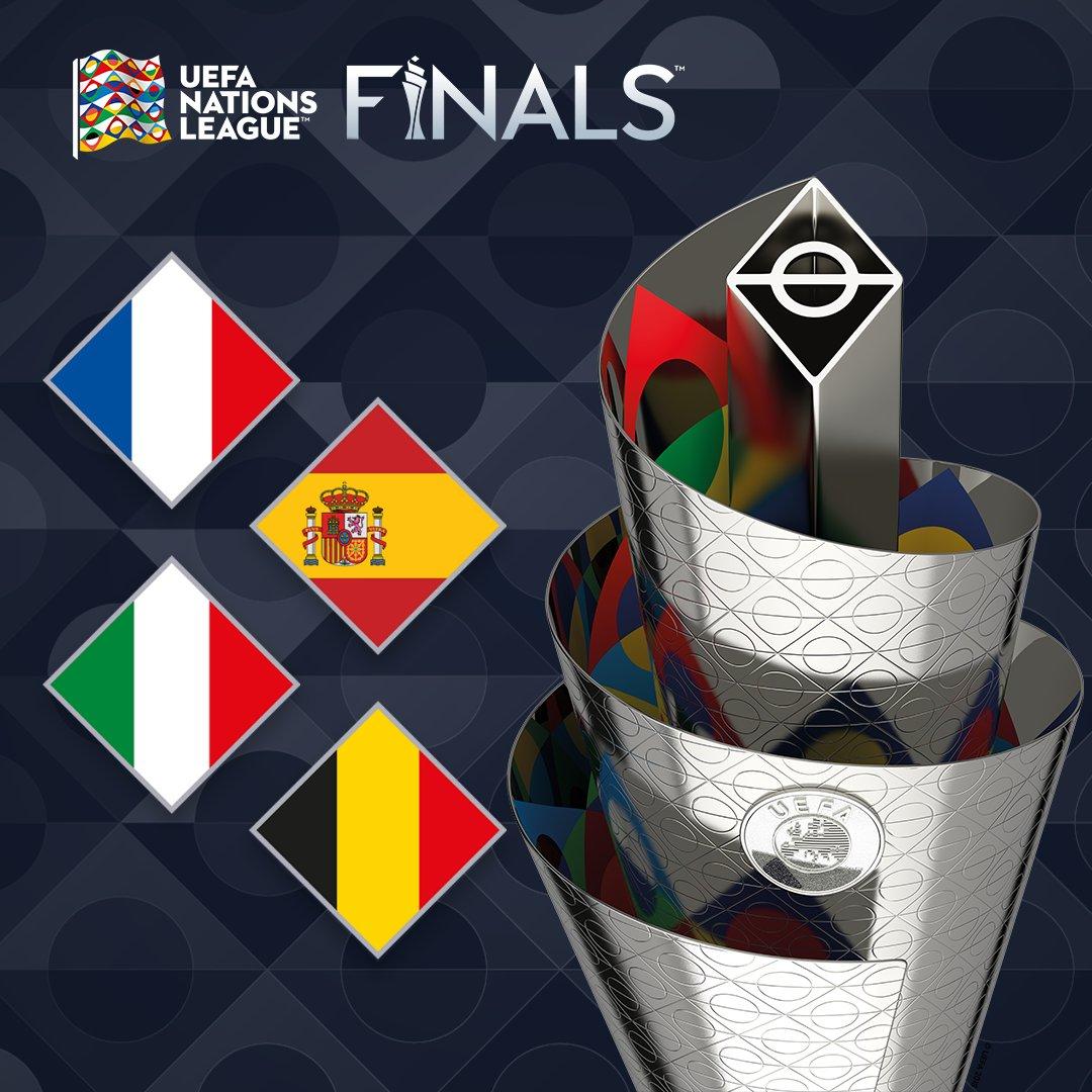🏆 ¡¡¡Ya conocemos a nuestros rivales en la Final Four de la #NationsLeague!!!  🇪🇸 La @SeFutbol luchará por el título junto a:  🇫🇷 Francia 🇮🇹 Italia 🇧🇪 Bélgica  📅 El próximo 3 de diciembre se celebra el sorteo.  🔗   #SomosEspaña #SomosFederación