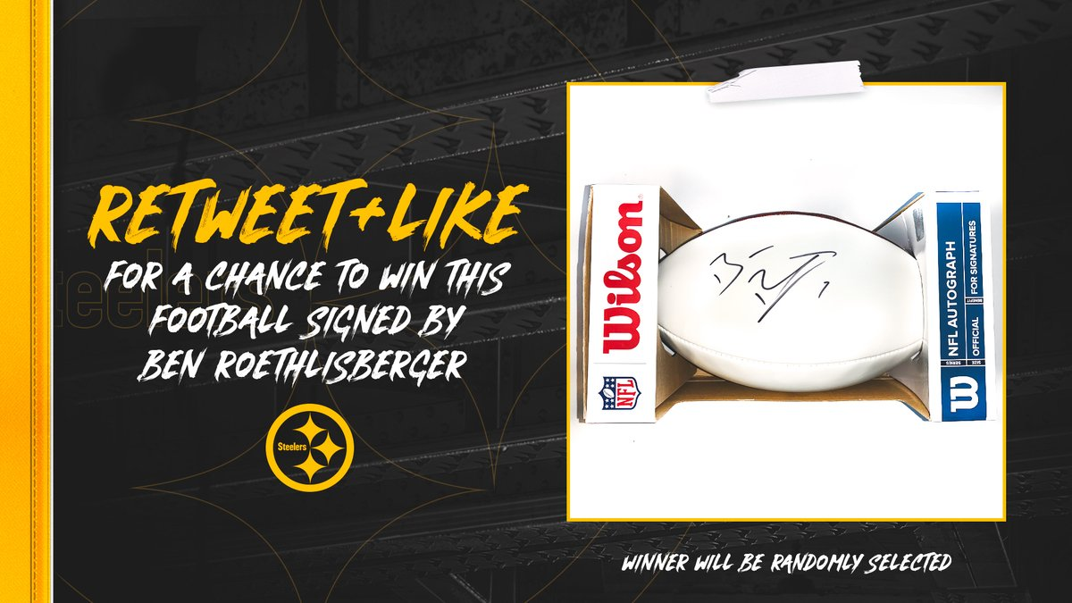 Replying to @steelers: RT + like for a chance to win this 🏈 signed by @_BigBen7 #BensDay