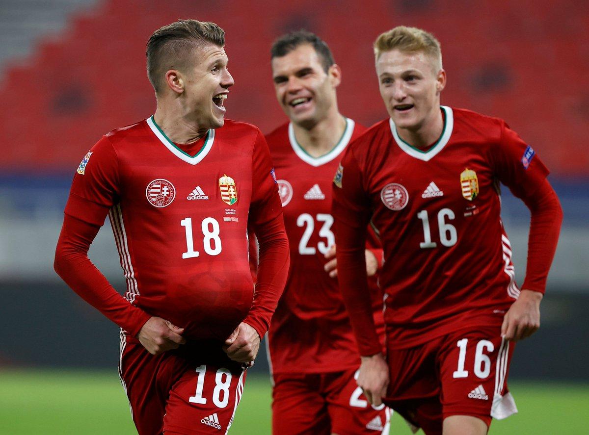 FULL TIME: UEFA #NationsLeague: HUNGARY 2 vs 0 TURKEY. [57' David Sigér 90+4' Kevin Varga] #HUNTUR https://t.co/q1SWqDJW22