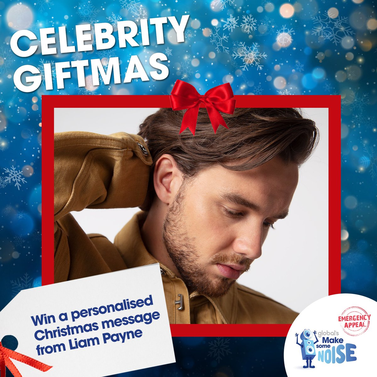 I'm excited to be part of Global's @makenoise #CelebrityGiftmas, helping those hit hardest by coronavirus across the UK.  For your chance to win a video message from me to you, or for a special someone in your life this Christmas, enter here: