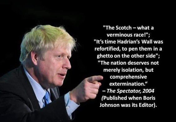 Checked the fact checker - this did happen  Under @BorisJohnson's direction  He really is the scum of the Earth