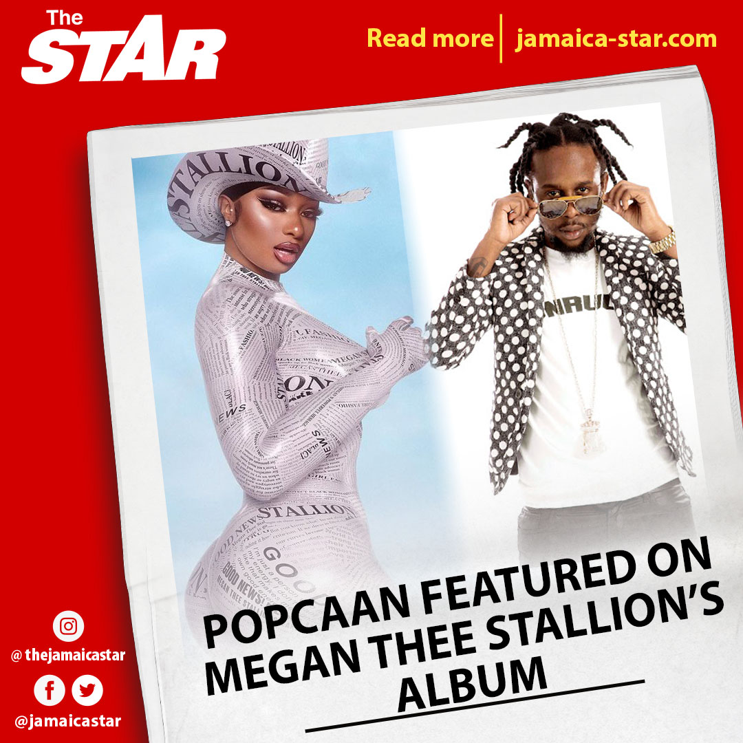 #STAREntertainment: Megan Thee Stallion @theestallion has revealed that dancehall superstar @PopcaanMusic will be featured on her debut album, slated to be released this Friday. The track is titled Intercourse. #Popcaan #GoodNews #MeganTheeStallion