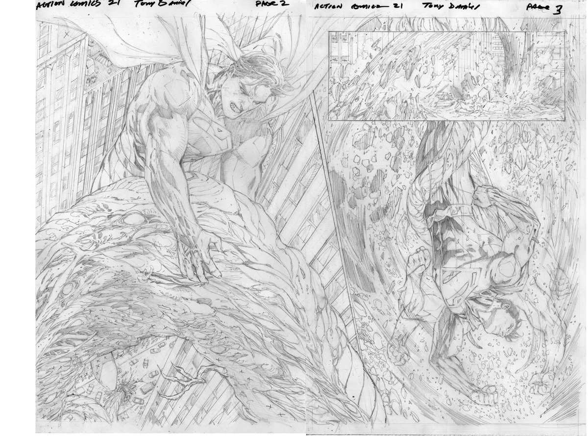 Here's a rare look at my interior pages from #ActionComics 21. #Superman #DCComics