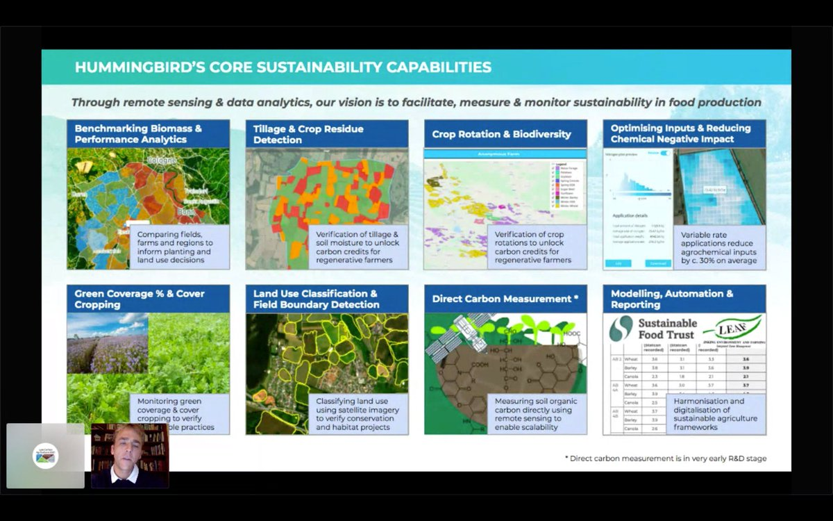 """Thank you to Will Wells @TechHummingbird who gave an enlightening talk in our #AgriTech Digital Insights webinar tonight.   """"If the UK follows other markets there will be monetary rewards if you have a biodiverse rotation."""" https://t.co/nMhBJmG0Ut"""