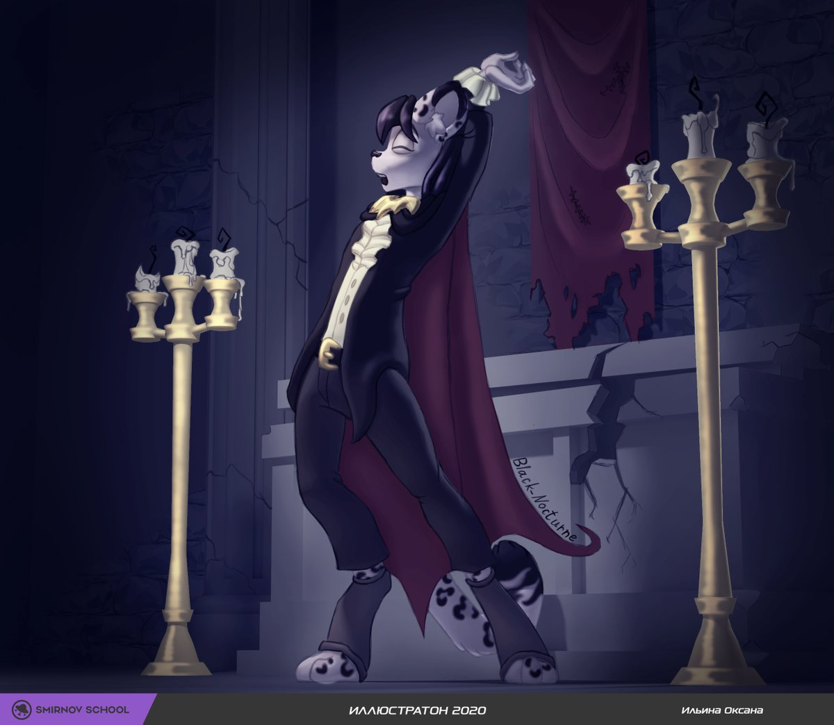 I did this during Illustrathon - an event from Smirnov School where we had only two days to create an illustration.  #illustrathon #smirnovschool #dimitris #leopard #snowleopard #anthro #vampire #tomb #crypt #candles #sarcophagus #candelabrum https://t.co/wYT4HPzbpp