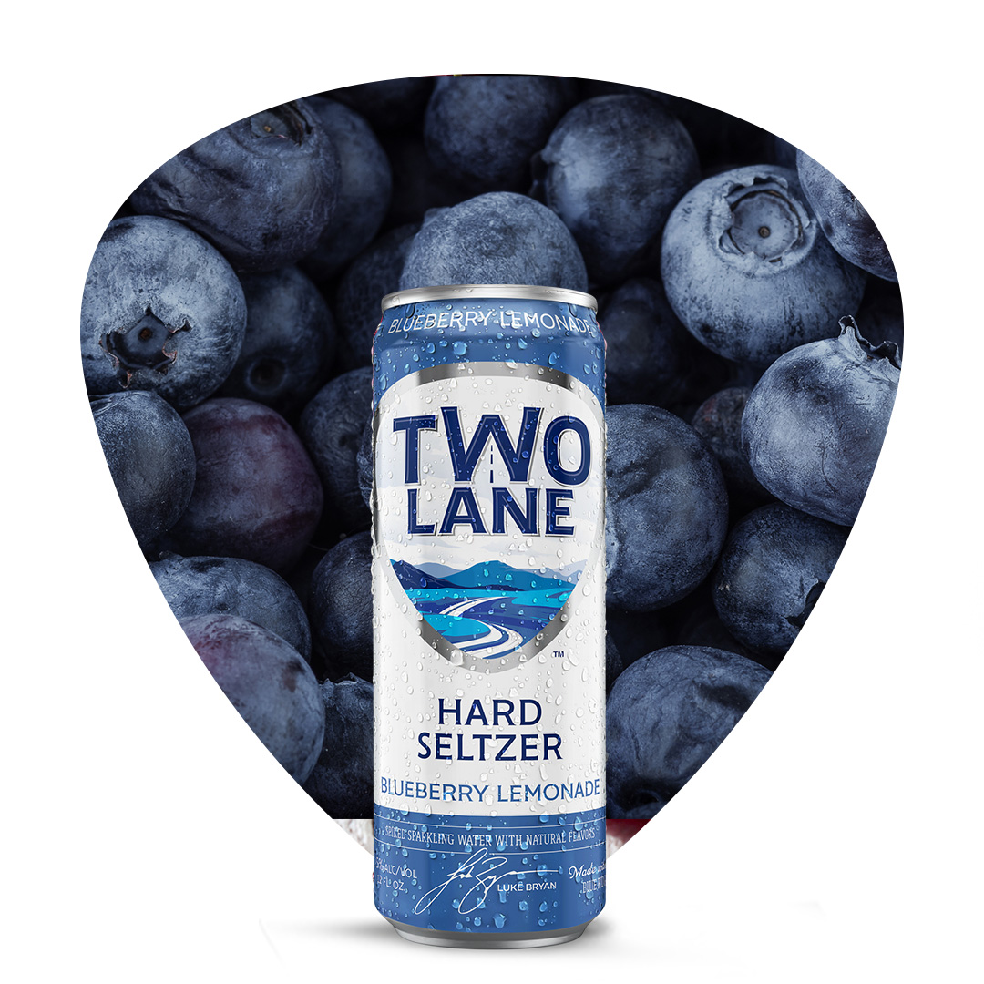 Tastes like days spent in the blueberry patch. #twolaneseltzer