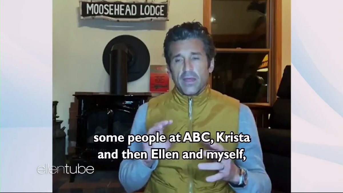 .@PatrickDempsey stepped out of Meredith Grey's dreams and onto my show to talk about it. #PickMe #ChooseMe #LoveMe #GreysAnatomy