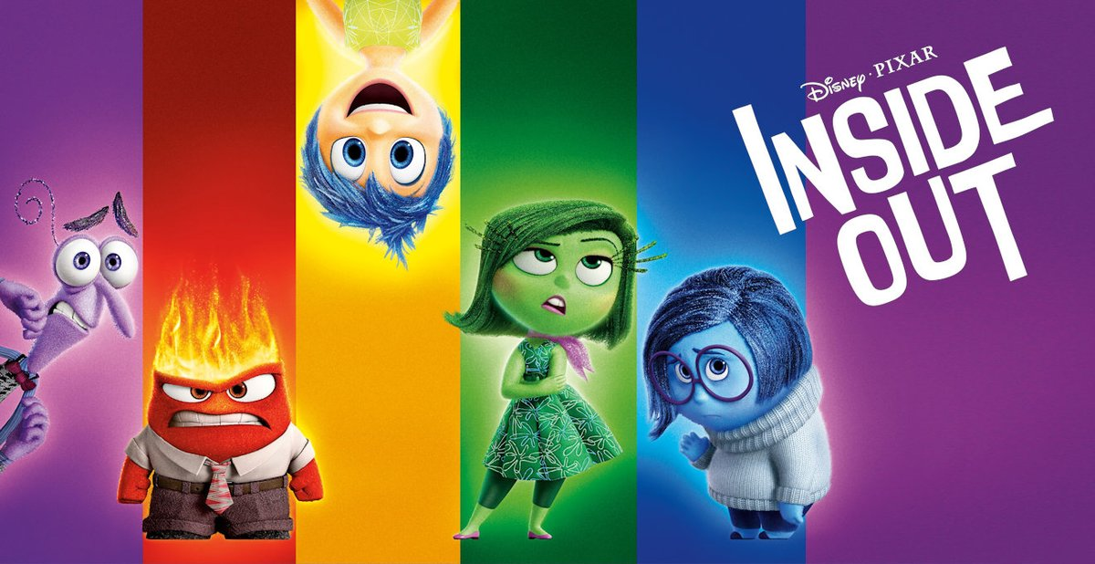 @Pixar One of my favorite Disney Pixar movies Inside Out 💛.