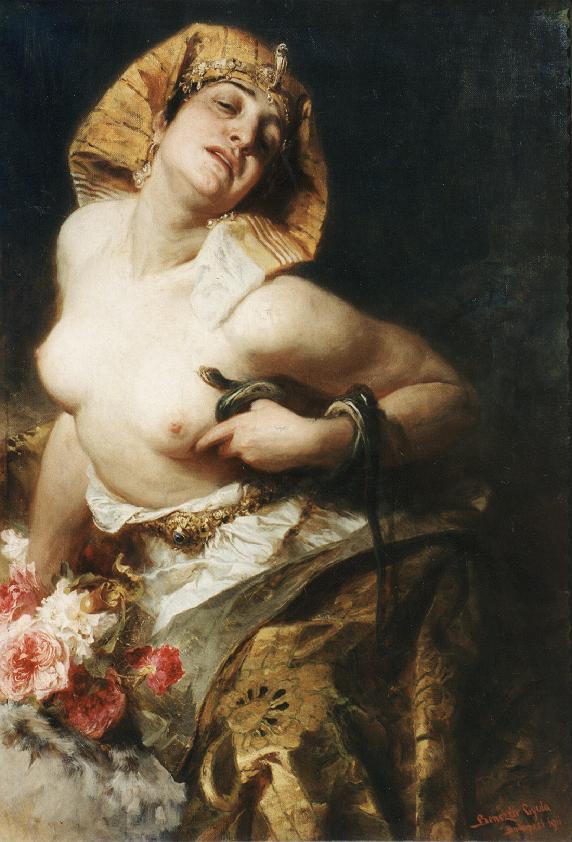 """Cleopatra"" Gyula Benczúr (28 January 1844, Nyíregyháza - 16 July 1920, Szécsény) was a Hungarian painter and art teacher. He specialized in portraits and historical scenes."
