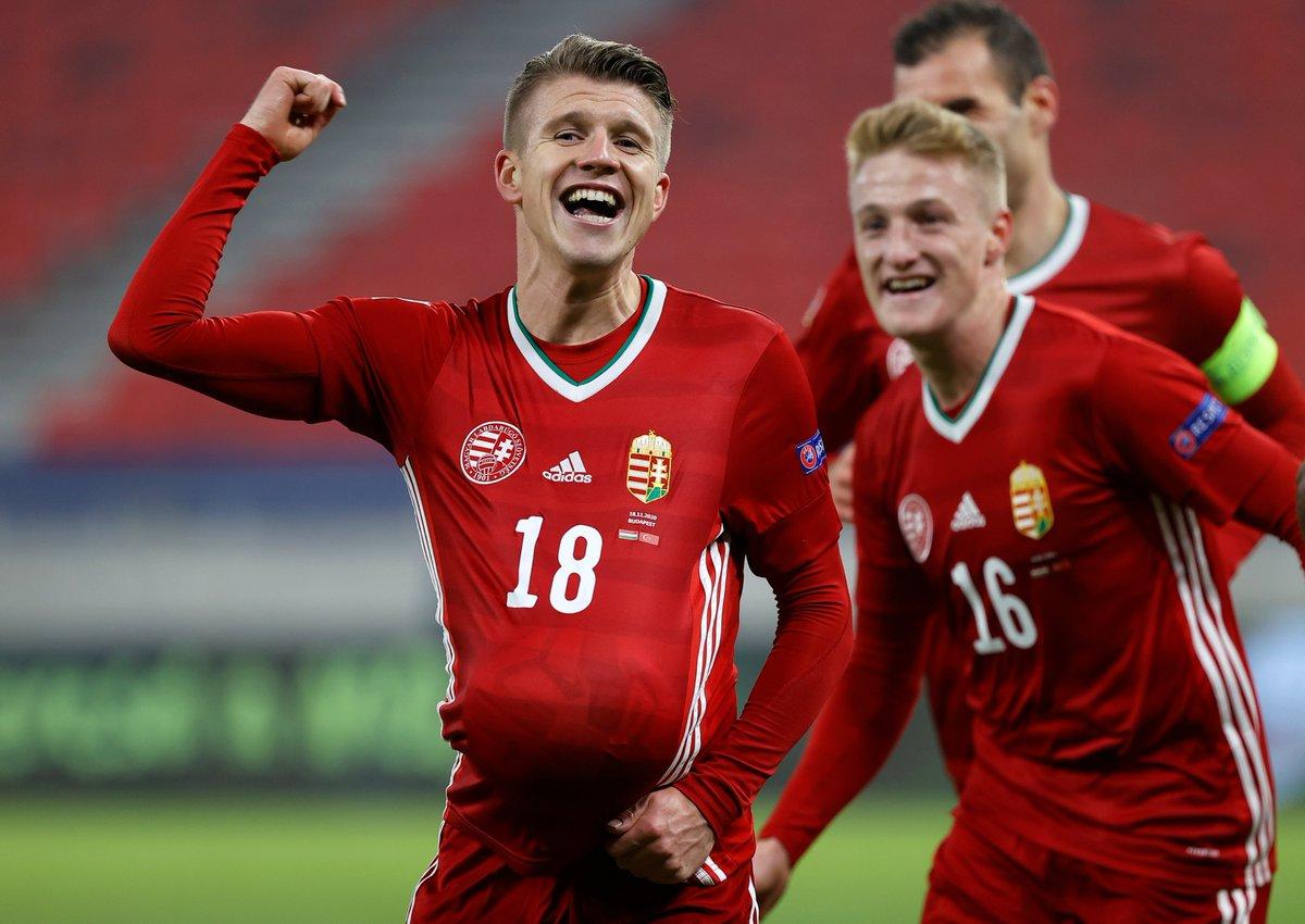 🇭🇺 Dávid Sigér nets his first goal for EURO 2020 hopefuls Hungary!  #NationsLeague https://t.co/zfqsuudPyK