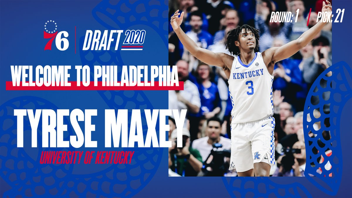 Philadelphia 76ers On Twitter With The 21st Pick In The 2020 Nba Draft Tyresemaxey