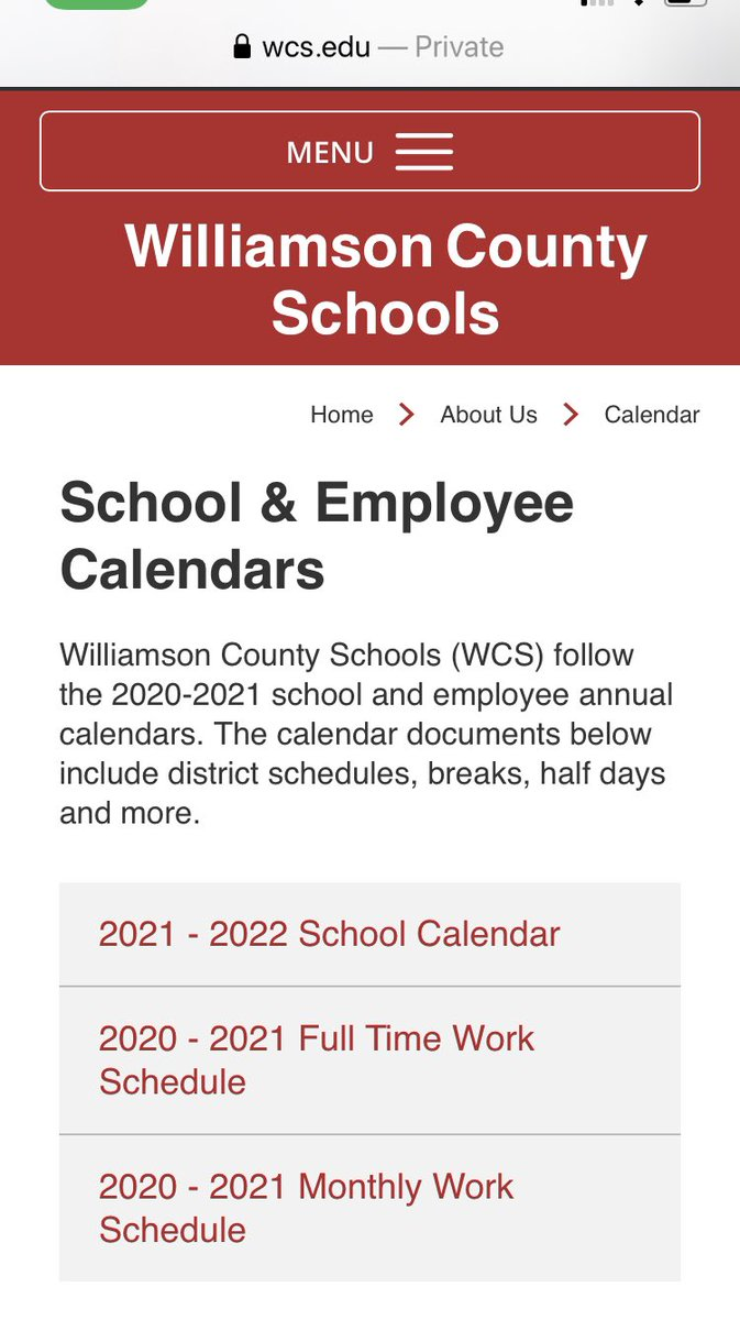 Wcs Calendar 2022.Wcs On Twitter Hi Kelly If You Refresh The Webpage The 2020 21 School Year Calendar Should Show Up For You