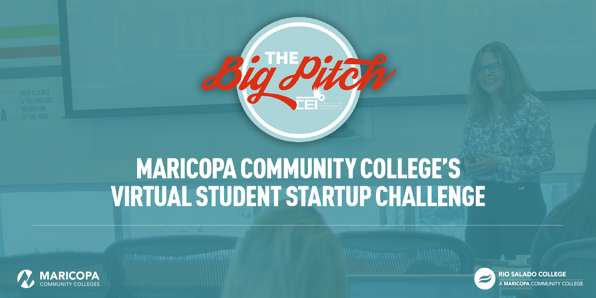 Rio Salado College is looking for a student entrepreneur (or team) with a business idea that has the potential for success to move forward in The Big Pitch virtual competition.  The Big Pitch applications are accepted now until March 1, 2021. Apply here: https://t.co/QFhQhnaO5H https://t.co/eQR1wDWICM