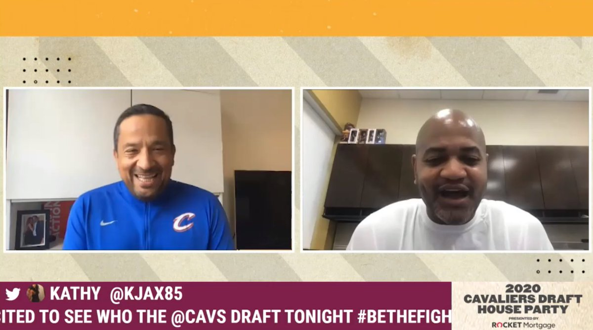 Hear from @jbbickerstaff_ as he checks in with @ElalcaldeRafa with only 30 minutes to go before #CavsDraft! https://t.co/wJ5aaa9Qyn
