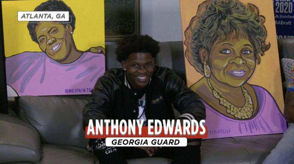"""SportsCenter on Twitter: """"Anthony Edwards has his late mother and  grandmother, who both died of cancer, with him tonight ❤️ #NBADraft… """""""