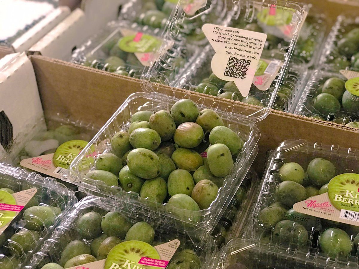 Every week, the Food Bank's inventory of food varies based on what we receive from food donors. We recently received kiwi berries which resemble a regular kiwi but are about the size of a grape, native to Asia and are rich in Vitamin C! #FeedingHopeTogether