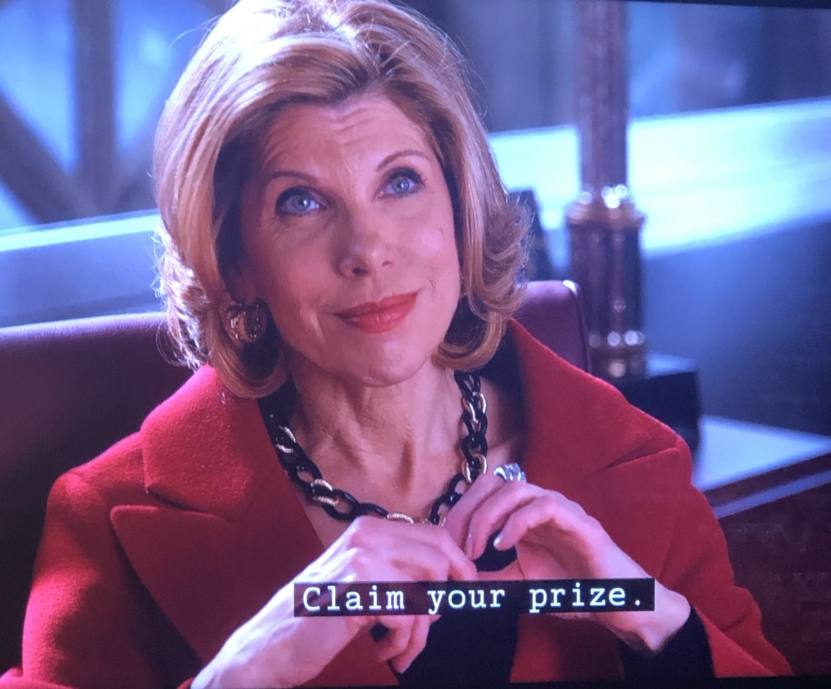 Meanwhile on THE GOOD WIFE season 1 .........  Diane is what we call qualified for a judgeship 😤