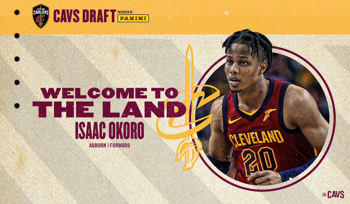 With the 5th pick in the 2020 #NBADraft, the #Cavs select @isaacokoro303! #CavsDraft https://t.co/tyoyfgMTjb