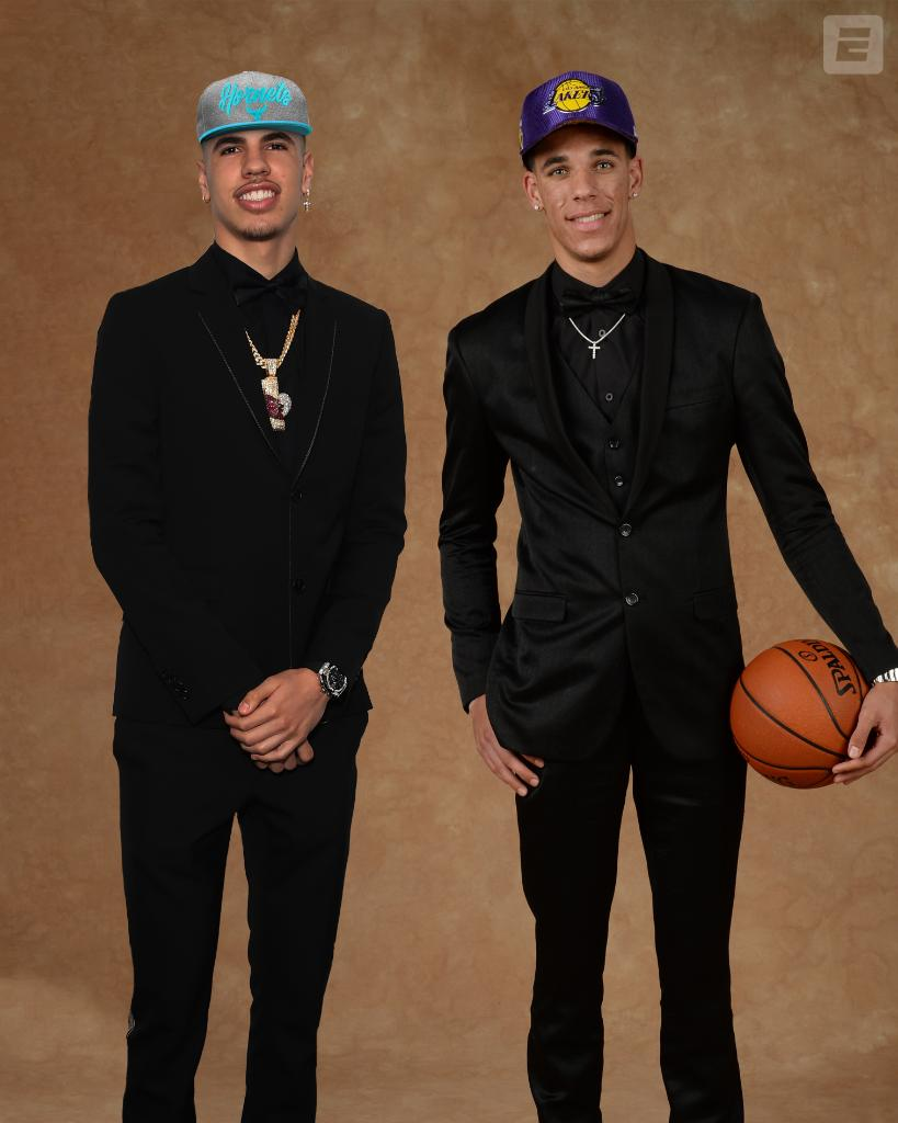 .@MELOD1P and @ZO2_ are the first brothers ever to be taken in the top 5 of the #NBADraft