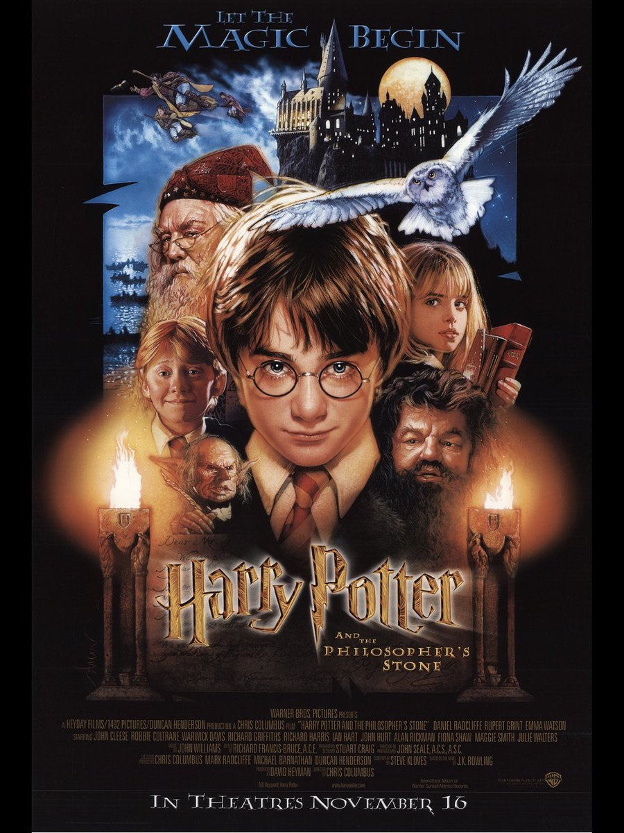 Along with July, November is a big celebratory month for the #WizardingWorld with releases/anniversaries!  This week we celebrate: 19yrs of @HarryPotterFilm &the #PhilosophersStone Nov 16 2001 #19YearsLater! 18yrs of #HarryPotter &the #ChamberOfSecrets which released Nov 15 2002!