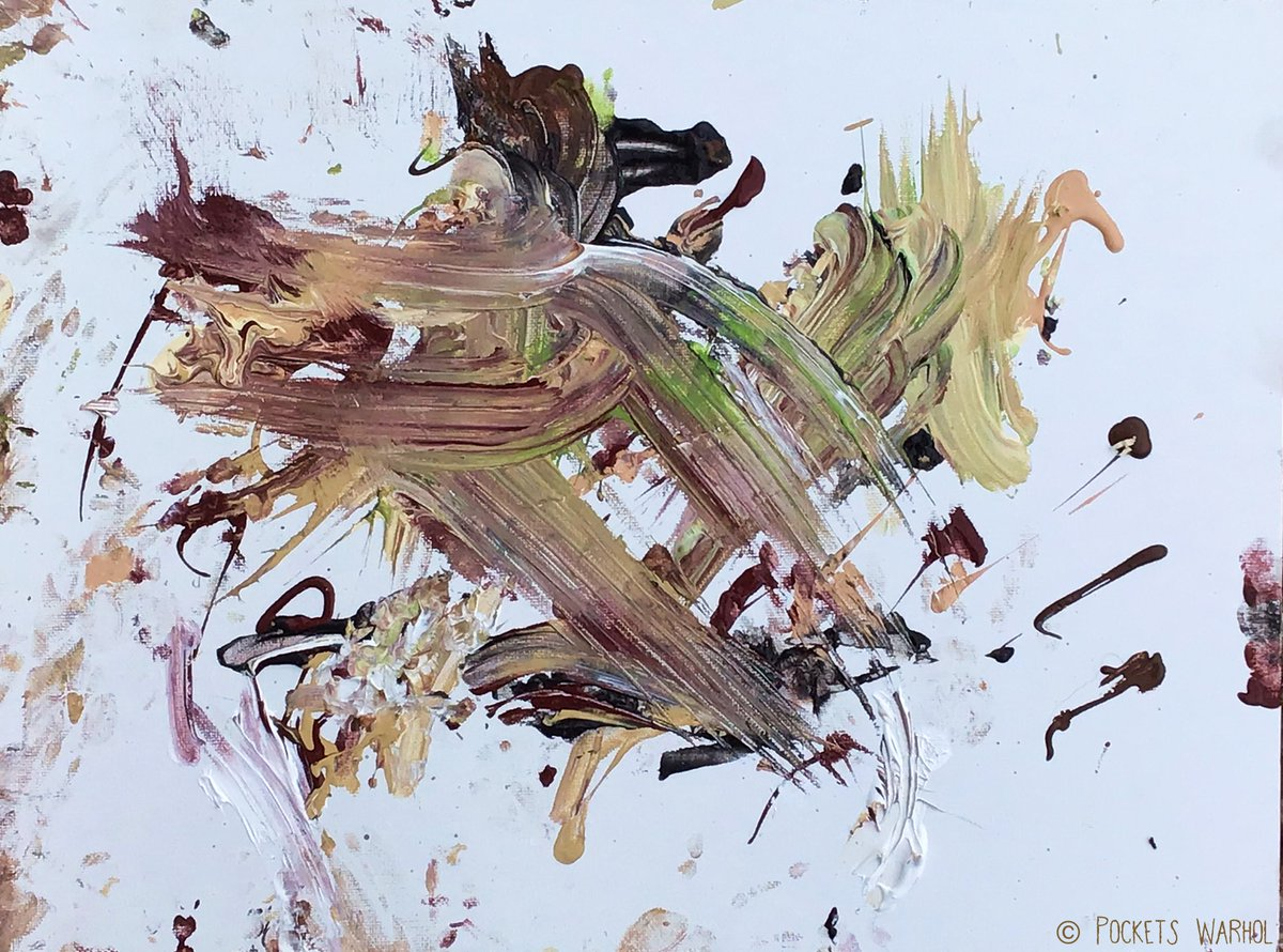 """My painting """"Pickle in Abstract"""" is on the way to @FelineFriendsUK to help raise funds for their sweet rescued cats hoping for a loving home @JaneFallon @rickygervais @PickliciousF @AllDogsMatter @WeatherDog3 @ScarlettBeagle @OllieFangClub @jim73194352 #BeNiceToAnimals"""