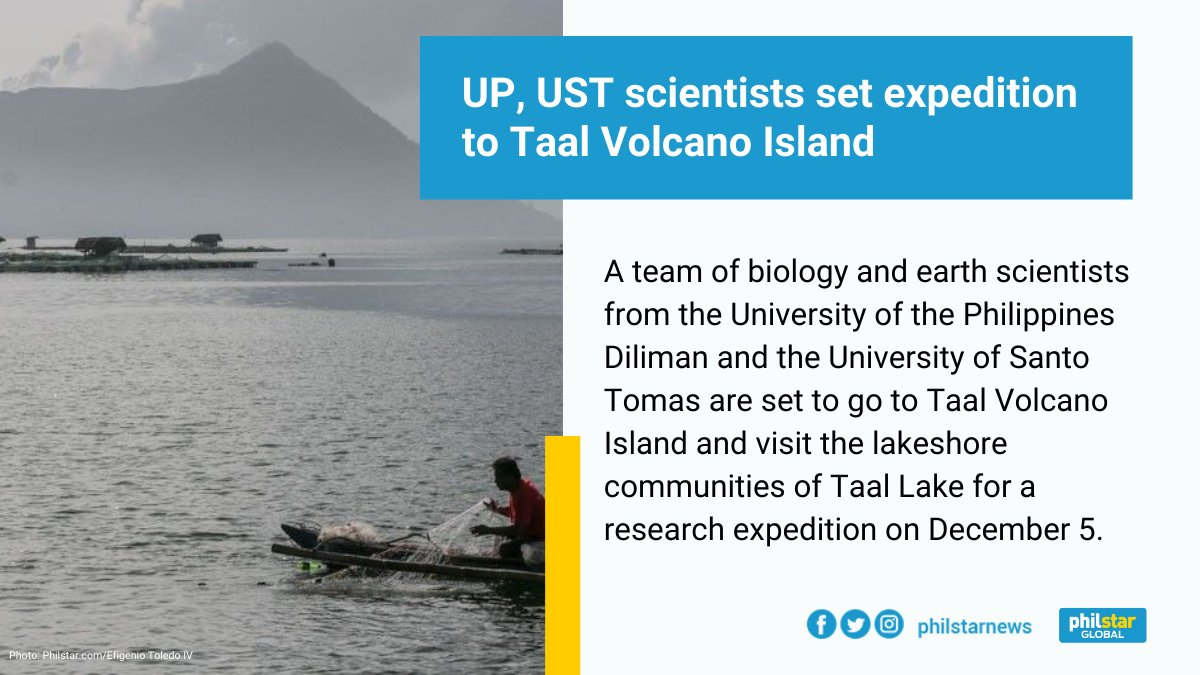 Under the Agham ng Bulkang Taal program, the teams will be conducting studies on how they can help the landowners, lakeshore communities and LGUs manage and sustain the lake and volcano resources.  Read: https://t.co/DsOj8SapxD https://t.co/VHZksEcHyQ