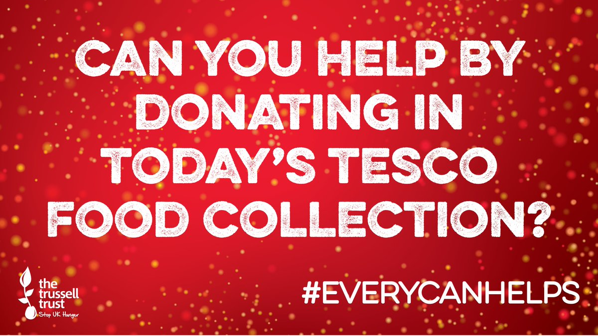The @Tesco Food Collection is underway in all of their stores! We'd love to have your support in the coming three days. Find your local food bank's most needed items here >  #EveryCanHelps