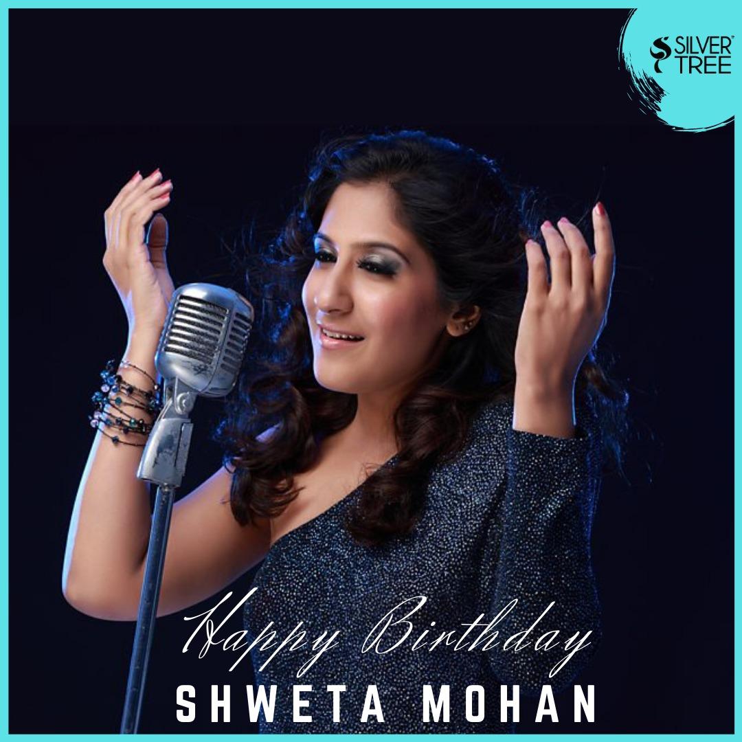 Birthday greetings to dear @_ShwetaMohan_ 💫                                                                        #HBDshweta #shwetamohan #Silvertreewishes