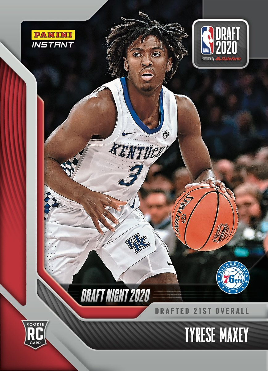 Welcome to Philly, @TyreseMaxey. @Sixers fans, #TrustTheProcess and head over to Maxey's #NBADraft Night Rookie Card out now from #PaniniInstant.   #RatedRookie | #NBADraft   https://t.co/G3Nl7XipoE https://t.co/es2VY75Ie3