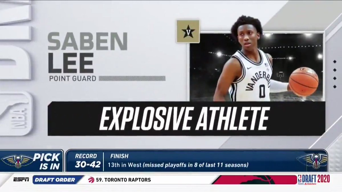 Replying to @VandyMBB: 𝐄𝐱𝐩𝐥𝐨𝐬𝐢𝐯𝐞. 💥  Saben is ready for the next level.   #NBADraft | #AnchorDown