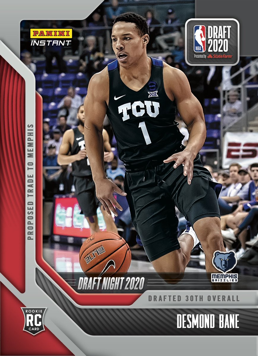 The @memgrizz got a good one! Welcome to the NBA, @DBane0625. Go check out the rooks #NBADraft Night Rookie Card available now from #PaniniInstant.   #RatedRookie | #NBA   https://t.co/MiRKYMOSY4 https://t.co/01F8cDETQT