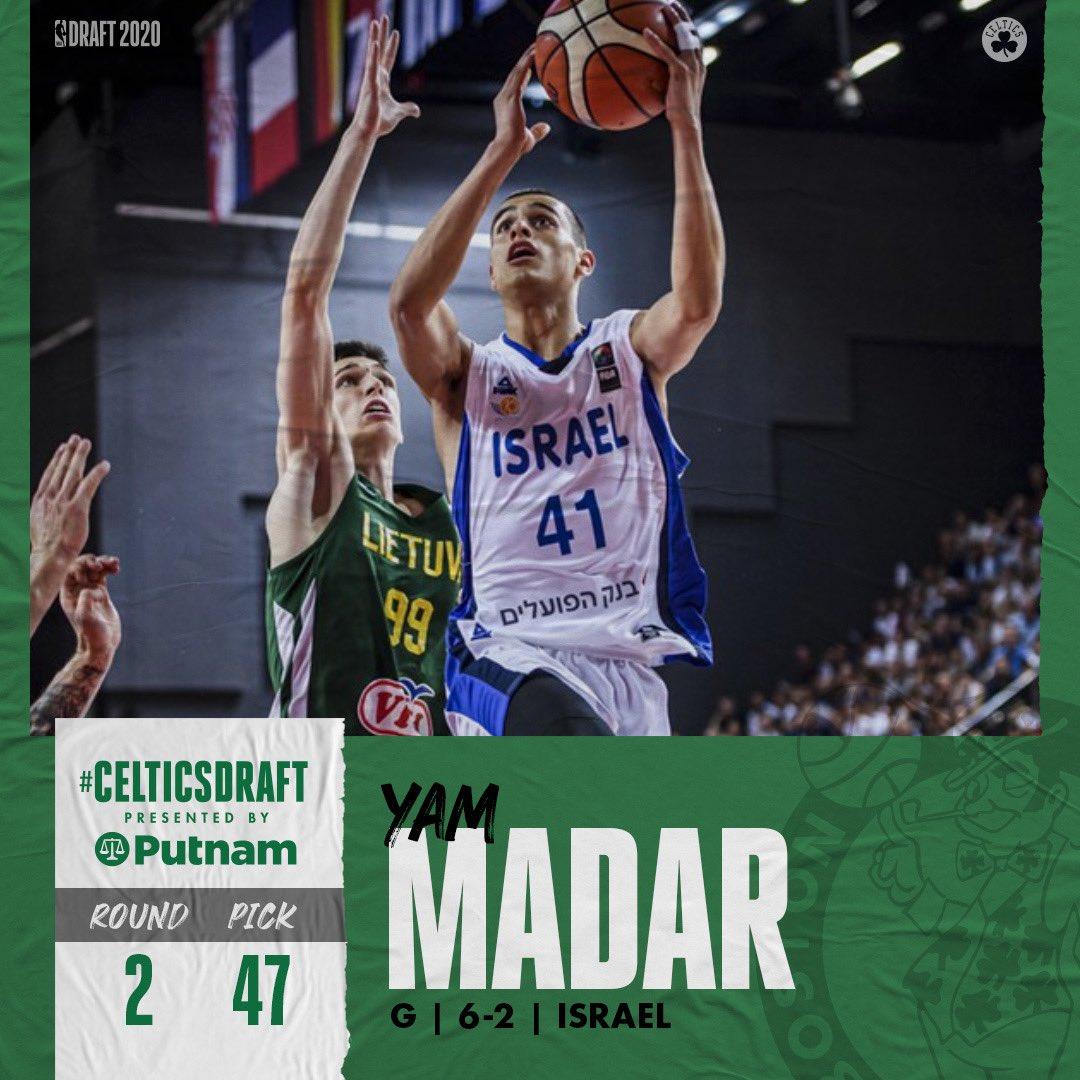 "Boston Celtics on Twitter: ""With the 47th pick, the Boston Celtics select Yam  Madar ☘️… """