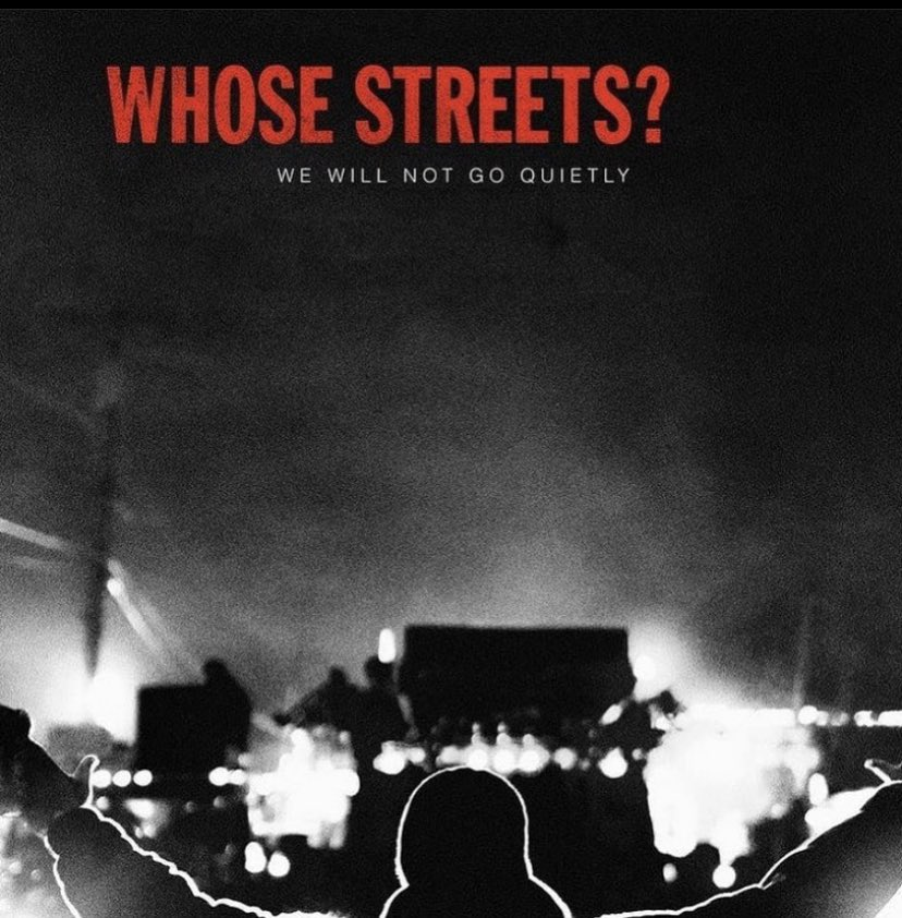 Whose Streets? is on Netflix. Go watch it. This documentary film is timeless, truly. Thank you for capturing our story with the honesty and rawness in which you did @sabaahfolayan @heartacheNpaint