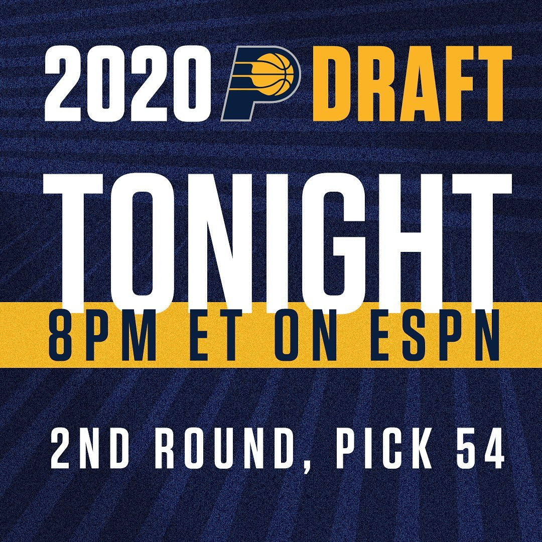 Indiana Pacers: who should we take with pick 5⃣4⃣?  . #pacersdraft2020...    https://t.co/BJnRfMplzf https://t.co/Sa3poOKfvb