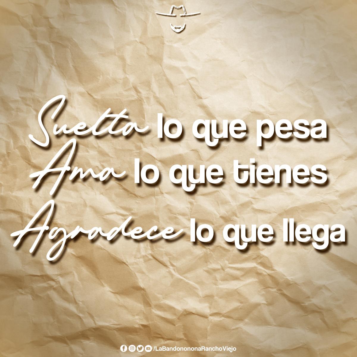 Suelta, Ama y Agradece🙏❤ Síguenos🤜🤛 @B_RanchoViejo  #BuenosDías #QueLeHace #LaBandononona https://t.co/0YtuEjzLQ3