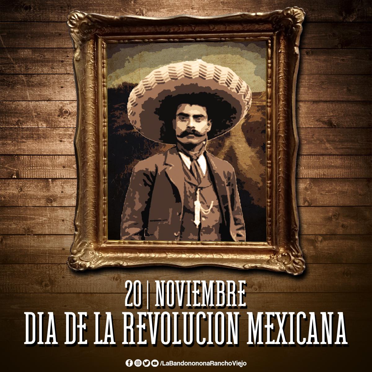 ¡Hoy se conmemoran 110 años de la Revolución Mexicana!🇲🇽🤠 Síguenos👉 @B_RanchoViejo  #DíaDeLaRevolucionMexicana #QueLeHace #LaBandononona https://t.co/T6OgvYcgHN