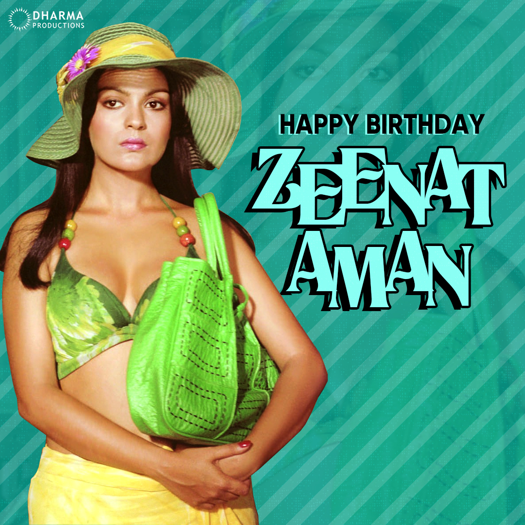 Here's wishing the veteran actress who has been a trailblazer of playing strong characters on screen - Happy birthday #ZeenatAman✨