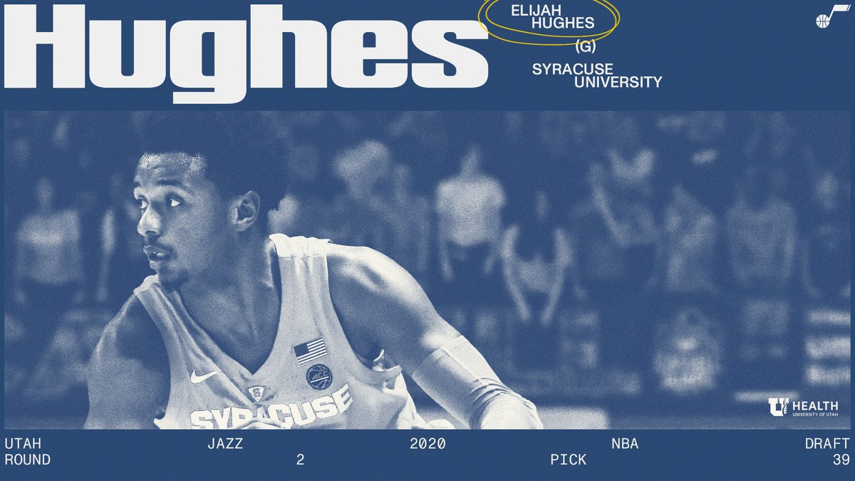 We have 𝐎𝐅𝐅𝐈𝐂𝐈𝐀𝐋𝐋𝐘 acquired the draft rights to @elijahhughes4_ out of @Cuse_MBB 🍊  #JazzDraft2020 | @UofUHealth »