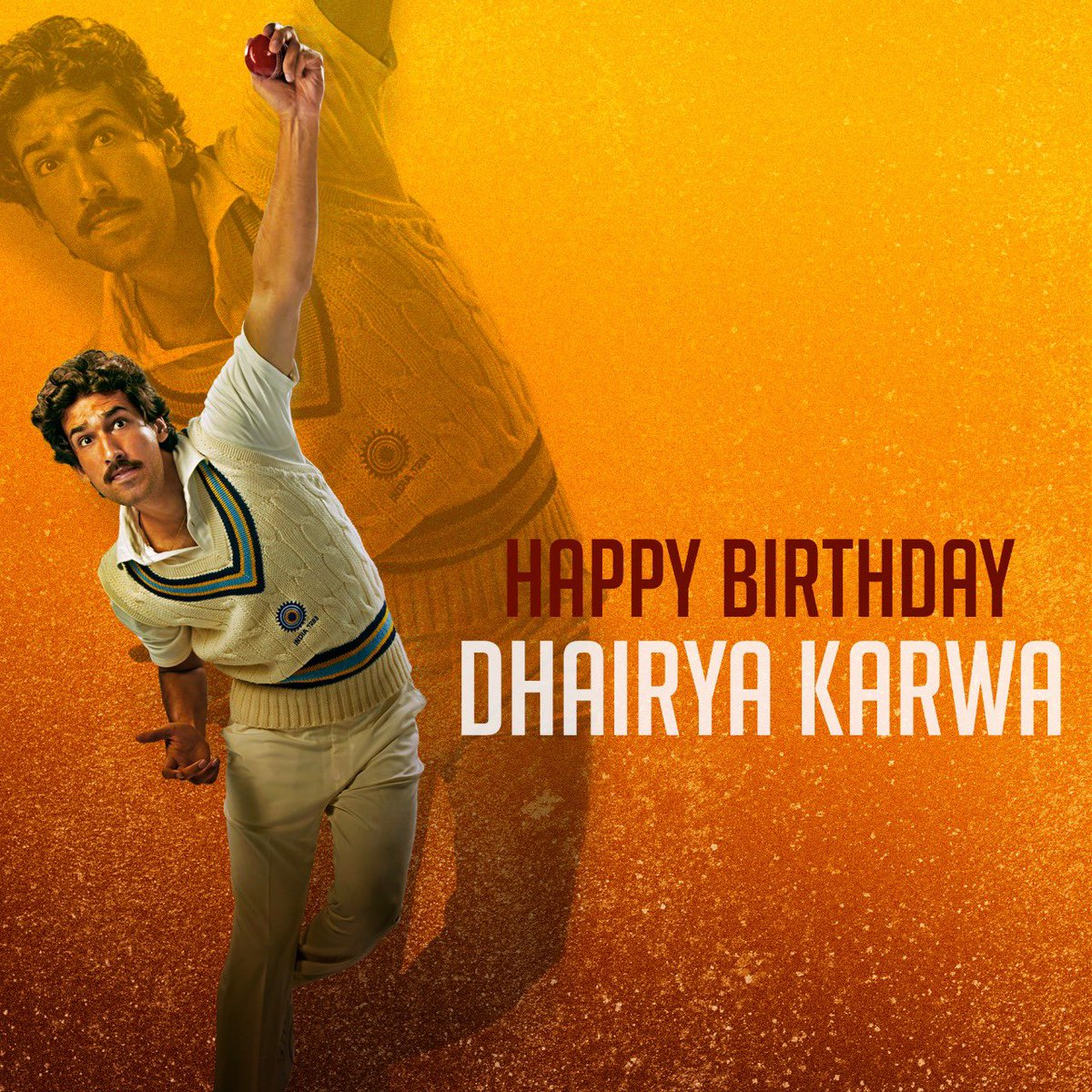 All set to inspire us all as the ever-resourceful,Ravi Shastri! Here's wishing #DhairyaKarwa a very happy birthday. #ThisIs83
