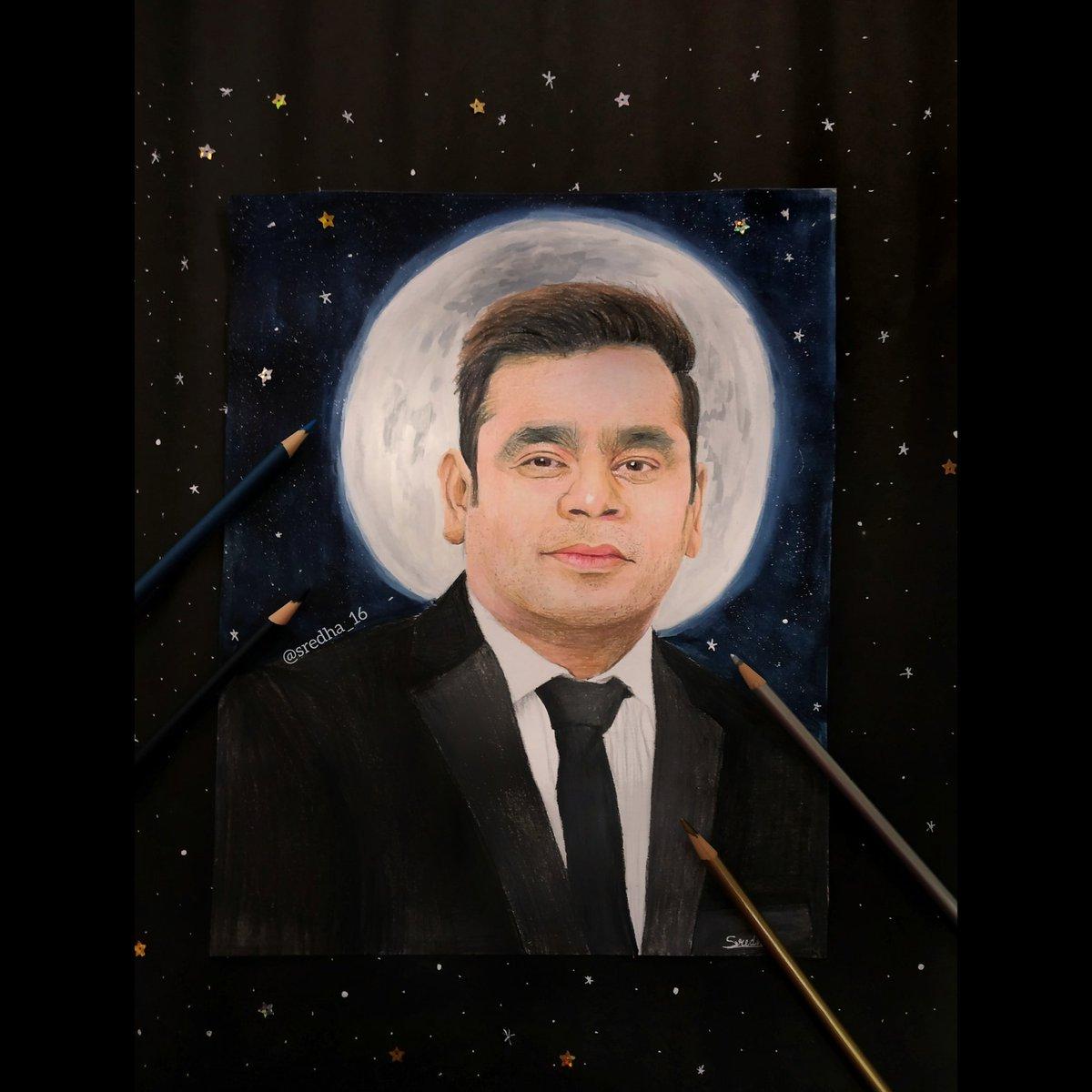 @arrahman @prasoonjoshi_ @AntaraNandy @harpic_india @CNNnews18 Master magician of music 🎶🌟💫 @arrahman Hope you like it sir🙏🏻✨ #fanart