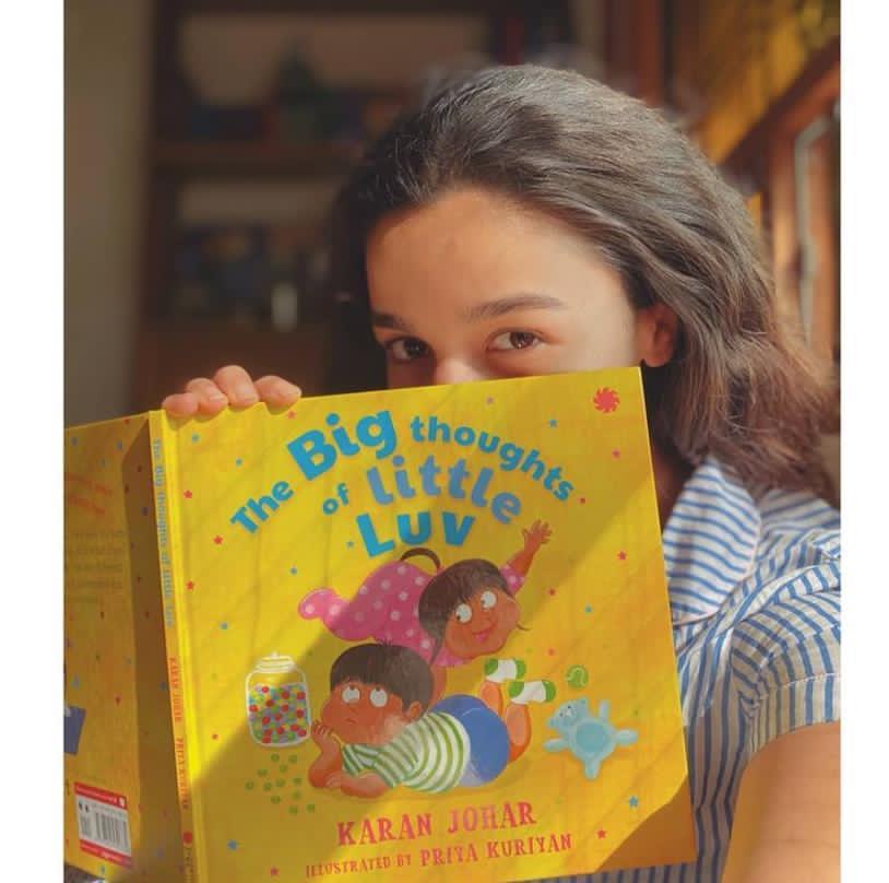 Alia Bhatt took to her social media to congratulate Karan Johar for his book - #TheBigThoughtsOfLittleLuv