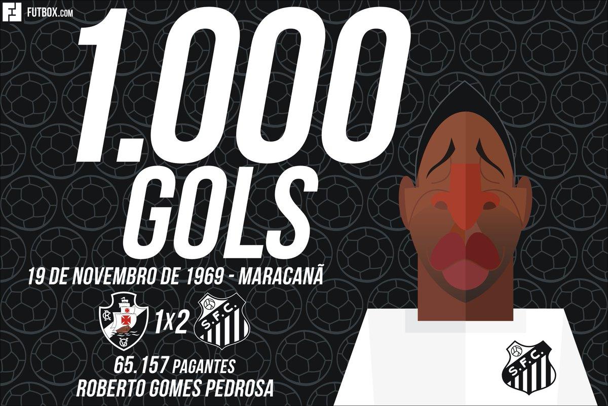 Há exatos 51 anos @Pele chegava a impressionante marca de 1.000 gols na carreira! 👏👑⚽️  #Pelé1000Gols #MilésimoGol #Santos #Vasco #Maracanã #OnThisDay #Pelé80 #Pelé80anos   #Futbox ⚽️ #futebol #futbol #football #history #historia #design