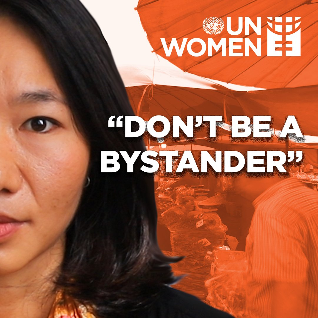 Don't be a bystander. Take action to end violence against women. #GenerationEquality