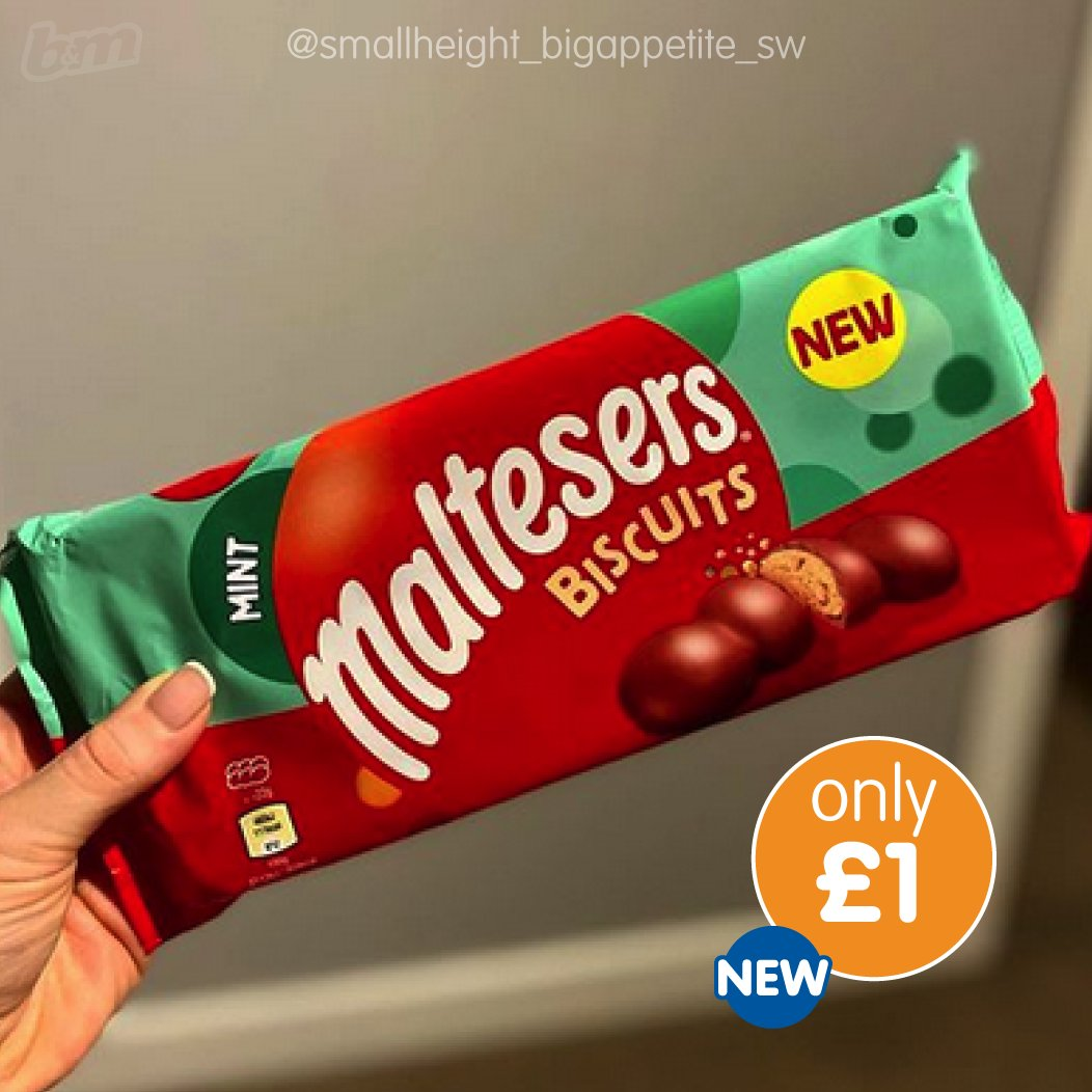 Experience the delicious taste of Maltesers in biscuit form, with a mint twist... not to be missed out on! 🍫 These brand NEW Mint Maltesers Biscuits are ONLY £1 😮 ow.ly/2nhU50ChNua - 🔍 Thanks to instagram.com/smallheight_bi… for the snap! Who cant wait to try these? 😍
