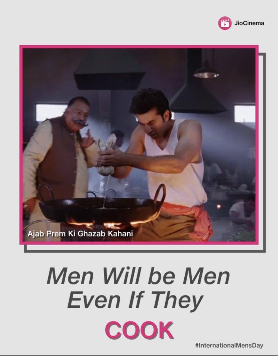 It takes all kinds of emotions to make them 'Men' #BreakingStereotypes Happy International Men's Day😄  #happyinternationalmensday #internationalmensday #jiocinema #RanbirKapoor #Ranbir #AjabPremKiGhazabKahani