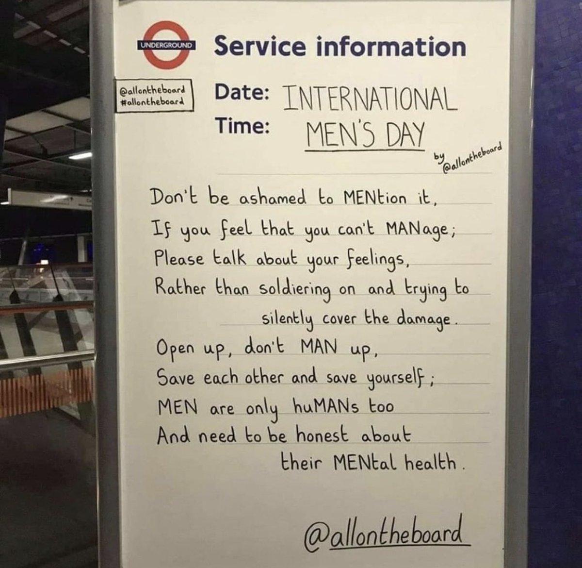 #InternationalMensDay ♥️