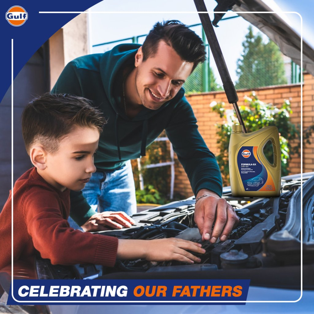Here's to all men who contribute to driving our tomorrow. 👨‍🔧  P.S. If our oil was a man then we would celebrate it too, wouldn't we?  #GulfOilInternational #GulfOil #InternationalMensDay
