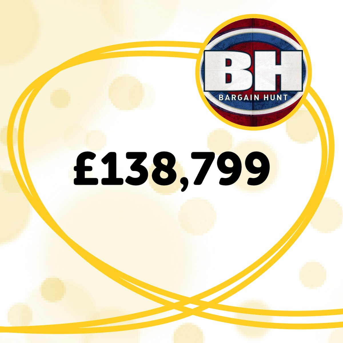 Thank you so much to @BBCBargainHunt for raising £138,799 in donations during their #ChildrenInNeed special 💛