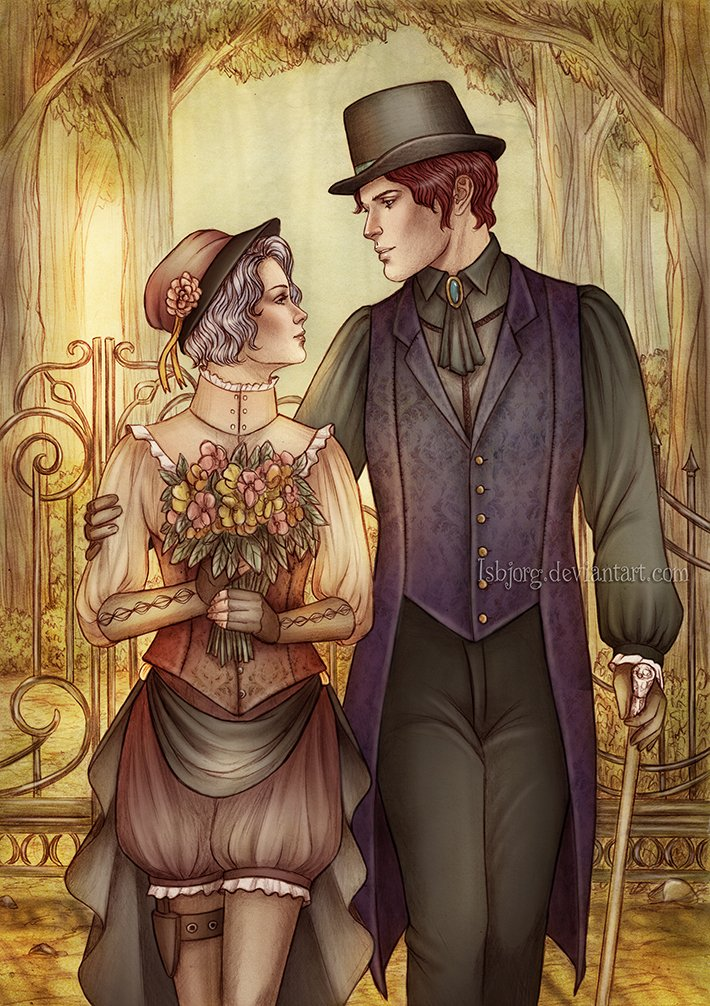 #commission for  Antimonesia   🎨 #commissioninfo : https://t.co/aeMqSI2YlI   #commissions #commissionsopen #fantasy #artistsontwitter #fanart #videogaming #rpg #roleplaying #digitalart #steampunk  #digitalart #traditionalart #Romance #love #couple